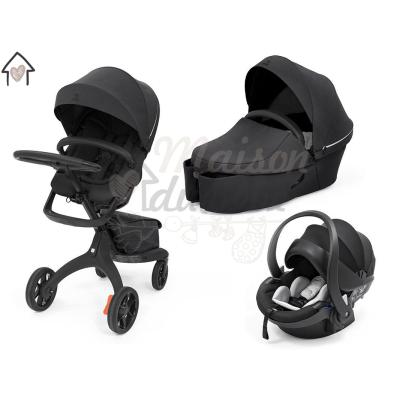 Stokke Xplory X Modello 2021 Trio Rich Black Con Ovetto Universale + Dispositivo Antiabbandono in OMAGGIO