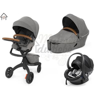 Stokke Xplory X Modello 2021 Trio Modern Grey Con Ovetto Universale + Dispositivo Antiabbandono in OMAGGIO
