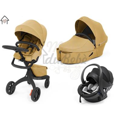 Stokke Xplory X Modello 2021 Trio Golden Yellow Con Ovetto Universale + Dispositivo Antiabbandono in OMAGGIO